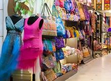 纪念品店在西贡,越南街市  库存照片
