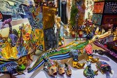 纪念品店在巴塞罗那 免版税库存图片
