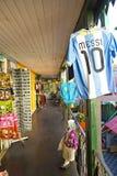 纪念品店在Caminito, La Boca。 库存照片