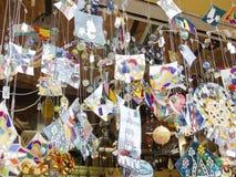 纪念品店,在巴塞罗那 库存图片