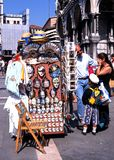 纪念品摊位,威尼斯 免版税库存照片