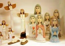 纪念品木天使雕塑  库存图片