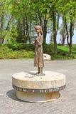 纪念品的饥饿的女孩古铜纪念碑对饥荒, Kyiv的受害者的 免版税图库摄影