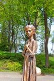 纪念品的饥饿的女孩古铜纪念碑对饥荒, Kyiv的受害者的 库存照片