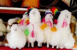 纪念品羊毛骆马形象 免版税库存图片