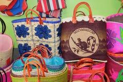 纪念品袋子 图阿马西纳,马达加斯加 库存照片