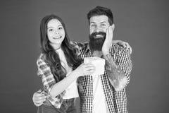 纪念品 o t i 父亲和女儿容忍 r 免版税库存图片