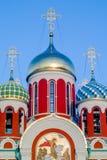 以纪念圣乔治的俄罗斯正教会在卡卢加州地区(俄罗斯) 免版税库存图片