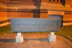 纪念堂在哈佛在波士顿, 2016年12月11日的美国 图库摄影