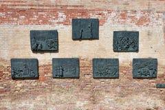 纪念墙壁在威尼斯 图库摄影