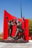 纪念墨西哥蒙特雷雕象 免版税库存图片