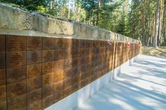 纪念复合体在Katyn在俄罗斯的斯摩棱斯克地区 免版税库存图片