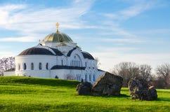 纪念复杂布雷斯特堡垒英雄 圣尼古拉斯驻军教会 免版税图库摄影
