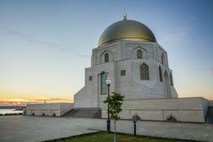 纪念标志回教的采用在古城Bolgar喀山,鞑靼斯坦共和国,俄罗斯 库存照片