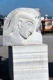 纪念特洛伊战争的浅浮雕 免版税库存照片