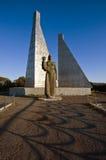 纪念碑下落的水手在不冻港市 免版税库存照片