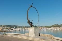 纪念碑乔纳森利文斯通- S Bendetto del Tronto - IT 库存图片