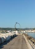 纪念碑乔纳森利文斯通- S Bendetto del Tronto - IT 免版税图库摄影