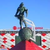 纪念碑争论者- Spartak体育场 免版税库存图片