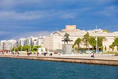 纪念碑伟大的亚历山大,塞萨罗尼基 免版税库存照片