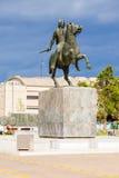纪念碑伟大的亚历山大,塞萨罗尼基 免版税库存图片
