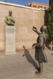 纪念碑佛莱明-青霉素的发明者在广场Monumental de Las Ventas的 马德里 西班牙 免版税库存图片