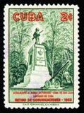 纪念碑到战胜1929年,圣胡安小山,退休通信1958,武装的战士,大约1958年 免版税库存照片