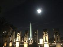 纪念碑华盛顿特区的看法 免版税库存图片