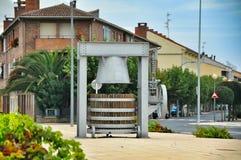 纪念碑古老葡萄压榨机 Olite 库存照片