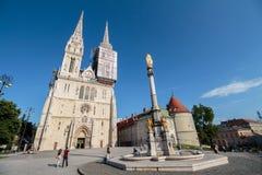纪念碑叫玛丽亚` s柱子 免版税库存图片