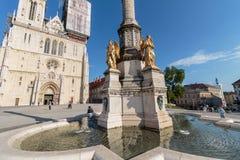 纪念碑叫玛丽亚` s柱子 库存图片