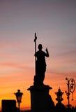 纪念碑和日落 库存照片