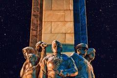 纪念碑和雪 图库摄影