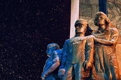 纪念碑和雪 库存照片