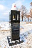 纪念碑喀什马达船海响铃  免版税库存图片