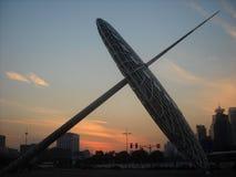 纪念碑在上海 免版税库存照片