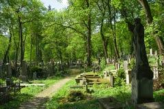 纪念碑在公墓 免版税库存照片