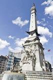 纪念碑在印第安纳波利斯,印第安纳,美国 库存照片
