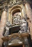 纪念碑在圣皮特圣徒・彼得在梵蒂冈的` s大教堂在罗马意大利 免版税图库摄影