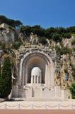 纪念碑在尼斯,法国 库存照片
