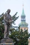 纪念碑在布拉格的中心 库存图片
