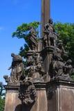 纪念碑在布拉格 图库摄影