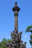 纪念碑在布拉格 库存照片