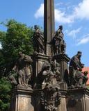 纪念碑在布拉格 免版税图库摄影