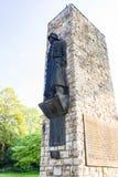纪念碑在格罗尔斯泰因镇城市公园  库存照片