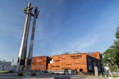 纪念碑在欧洲团结中心在格但斯克 库存图片