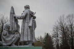 纪念碑在波洛茨克 免版税库存照片