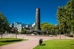 纪念碑在莱萨马公园 布埃诺艾雷斯 阿真舍 免版税图库摄影