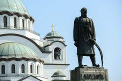 纪念碑在主教的座位前面的纪念的Karadjordje Petrovic 免版税库存图片