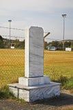 纪念碑在Evzonoi 马其顿边界 希腊 库存图片